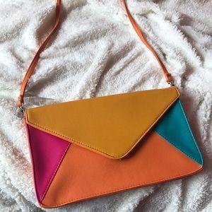 Handbags - Orange Over the Shoulder Bag